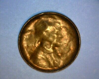 Lincoln Cent, Late-Stage Die Cap, Counter Brockage >Copper< Us Error Coin