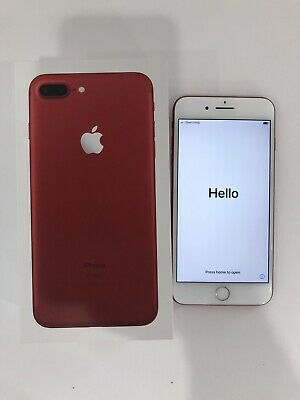UNLOCKED Apple iPhone 7 Plus 256GB Red Clean Any Carrier Verizon AT&T T-mobile