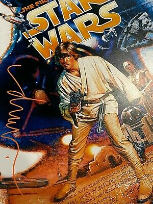 Star Wars First 10 Years Reprint Poster Signed By Artist Drew Struzan