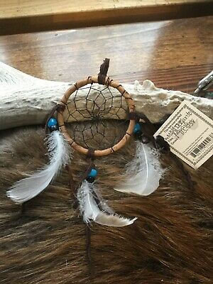 """Navajo Made Dream Catcher, 2 1/2"""", Certificate Of Authenticity Included."""