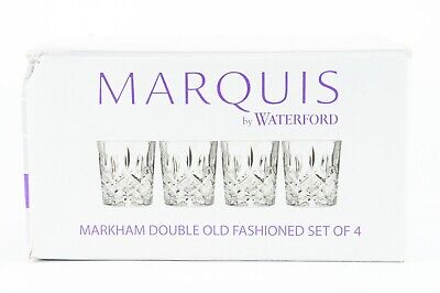 Marquis by Waterford Markham Double Old Fashioned Set Of 4 Glasses
