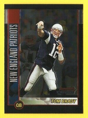 TOM BRADY 2002 Bowman Chrome football card New England Patriots NFL Michigan ***