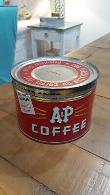Vintage A & P 1 LB Coffee Can Tin Advertising
