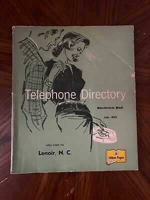 1963 Lenoir NC Southern Bell Telephone Directory