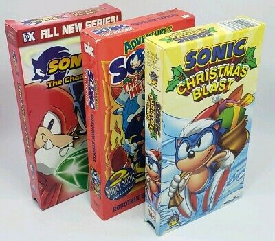 Sonic the Hedgehog VHS lot, early 2000s
