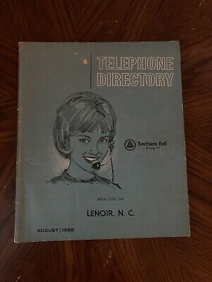 1965 Lenoir NC Southern Bell Telephone Directory