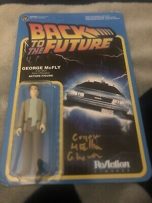 Back to the Future George McFly SIGNED Crispin Glover Funko ReAction Figure Auto