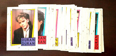 1985  Duran Duran  Card Set  33 Cards  With 33 Stickers