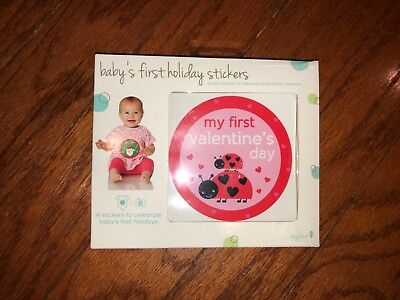 New Baby's first holiday shirt stickers milestones circle