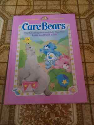 Vintage Care Bears The Baby Hugs Bear and Baby Tugs Bear Look and Find Book 1984