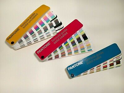 Pantone Chips - 3 Sets - Coated, Uncoated & Matte - Excellent Condition w/Case