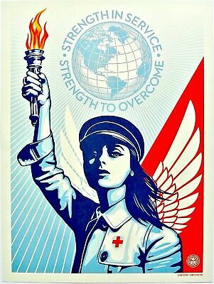 Shepard Fairey  Print ANGEL OF HOPE AND STRENGTH OFFSET POSTER OPEN EDITION