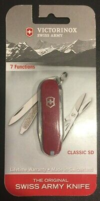 Victorinox Swiss Army Knife Classic SD Red Multi-Tool NEW IN PACKAGE 7 function