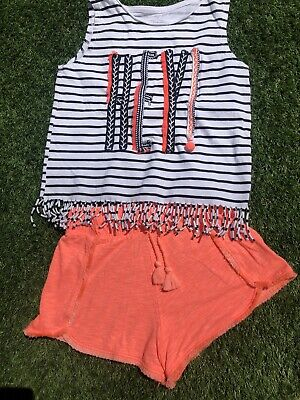 Girls Outfit Set Shorts  Top River Island 9-10 Years