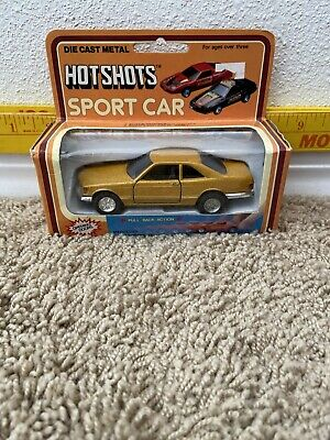 Hot Shots Sport Car 1980 Die Cast Metal Toy Sport Car with Pull Back Action Merc