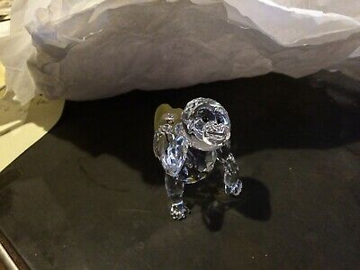 SWAROVSKI Austria Crystal YOUNG GORILLA WITH BANANA Figurine