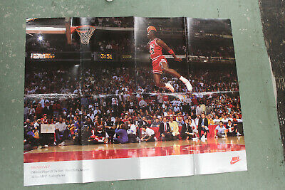 Michael Jordan NIKE Slam Dunk Contest Poster 16x20 Authentic 1988 Nike poster
