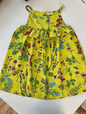 Girls Next Yellow Floral Strappy Dress Age 6 Years