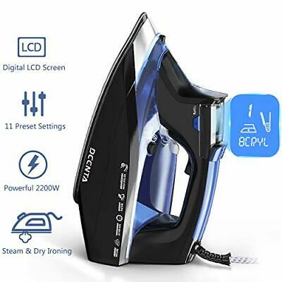 Dcenta Steam Iron for Clothes with LCD Display, 11 Temperature and Fabric