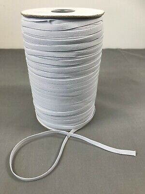 Elastic Flat Corded Braided White Sewing Making Face Masks Free 1st Class Post