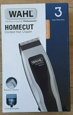 Wahl Homecut Corded Hair Clipper 6 Attachments. Brand New Home Cut Homepro