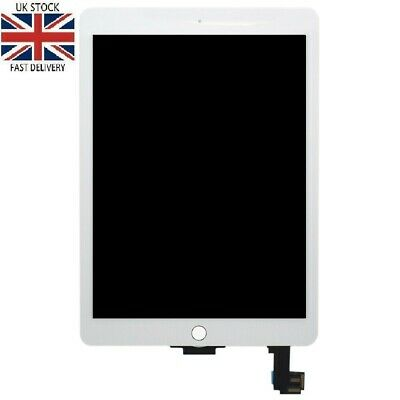 For Apple iPad Air 2 Replacement LCD Digitizer Touch Screen A1566 A1567 White