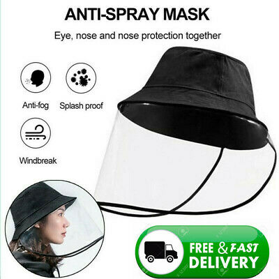 Anti Saliva Anti-Spitting Protective Hat Cap Uniex Face Shield Cover US Stock