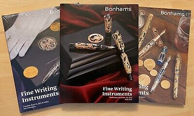 3 Bonhams Fine Writing Instruments Limited Edition Hardcover 2012/3 Pen Catalogs