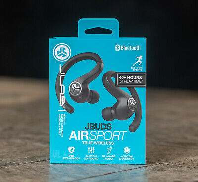 JLab JBuds Air Sport Bluetooth True Wireless In-Ear Headphones - Black