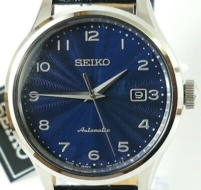 Seiko New Men's Automatic Hand Winding Leather Strap Watch Srpc21J1. No Box