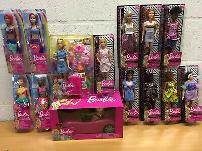 Barbie Doll Fashionistas Dreamtopia Mermaid X 2 Travel Convertible Playset New