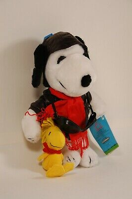"Snoopy Plush 11"" Doll ""Flying Ace"" United Feature Synd. Peanuts Characters"