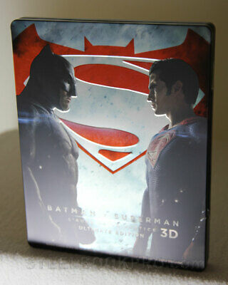 BATMAN V SUPERMAN : L'AUBE DE LA JUSTICE - Steelbook - Blu-Ray 3D + 2D + DVD