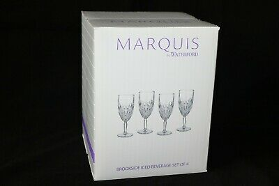 Marquis by Waterford BROOKSIDE Iced Beverage Glasses 12 oz Set of 4 NEW in box