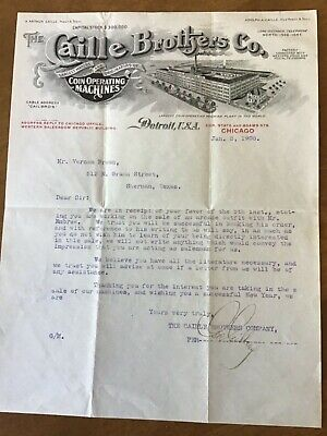 Caille Brothers Co Letter 1908