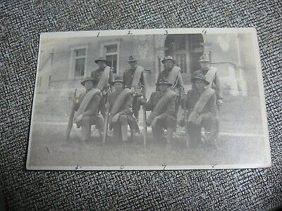 Real Photo Post Card 8 Soldiers From Dexter Maine Ids On Back Early 1900S