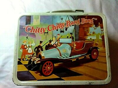Vintage 1968 Chitty Chitty Bang Bang Metal Lunch Box and Thermos
