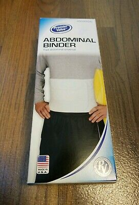 """Universal Abdominal Binder Back Support Belt Wrap up to 60"""" Latex Free"""