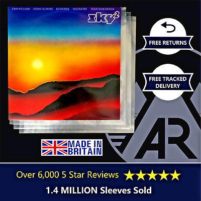 """50 LP Album 12"""" 250g Plastic Polythene Record Sleeves - Outer Vinyl Covers"""