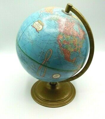 Vintage Cram's Imperial 12 Inch World Globe in Very Good Used Condition.