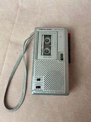 Realistic Voice Actuated 2 Speed Micro 18 Recorder