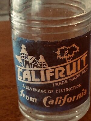 "Vintage "" CALFRUIT"" Bottle ~ Made In CALIFORNIA"