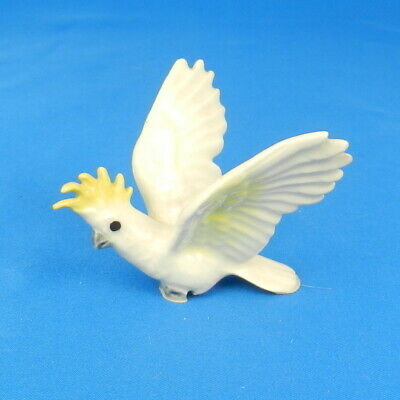 Hagen Renaker Miniature COCKATOO Porcelain Bird Figurine 1987-88 ONLY