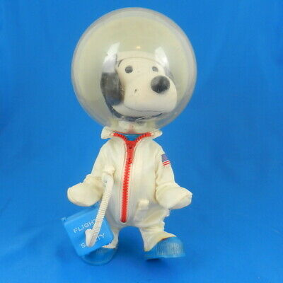 Vintage Peanuts SNOOPY ASTRONAUT Figure in SPACE SUIT Charlie Brown Dog 1969 WOW