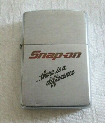 Vintage 1996 Zippo Lighter Brushed Chrome Snap-On ...There Is A Difference