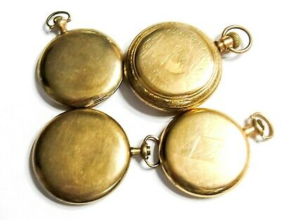 154G Bulk Lot - Gold Filled Pocket Watch Cases - 0S-16S - Use Or Scrap (K3)
