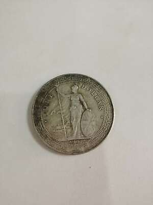 Great Britain UK 1907 TRADE DOLLAR in China $1 Silver Coin AU