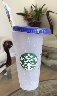 Starbucks Confetti Color Changing Cup Rainbow Straw Pride Summer 2020 Free Ship