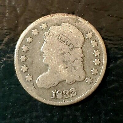 1832 Capped Bust Half Dime in VG Detail