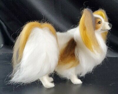 Felted OOAK Red Sable Papillon Dog Butterfly By Artist Pamela A. Lee